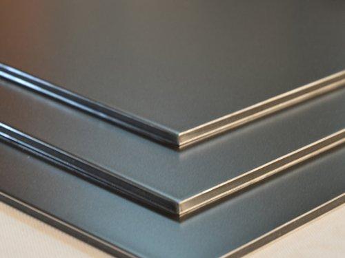 Aluminium Verbundplatte - 3mm - MAUS GRAU - 0,2mm - 200mm x 200mm