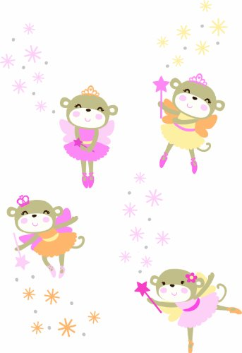 Carter'S Star Wall Decals, Fairy Monkey front-33977
