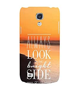 EPICCASE Brighter Life Mobile Back Case Cover For Samsung Galaxy S4 Mini (Designer Case)