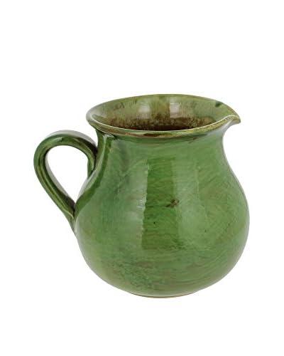 French Home 1.75-Qt. Italian Stoneware Traditional Pitcher, Cilantro Green, 7.5 x 6 x 6
