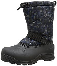 Northside Frosty Cold Weather Boot (Toddler/Little Kid/Big Kid), Black/Blue, 2 M US Little Kid