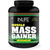 INLIFE Muscle Mass Gainer With Whey Protein Powder Bodybuilding Supplement - 5 Lbs (Chocolate)