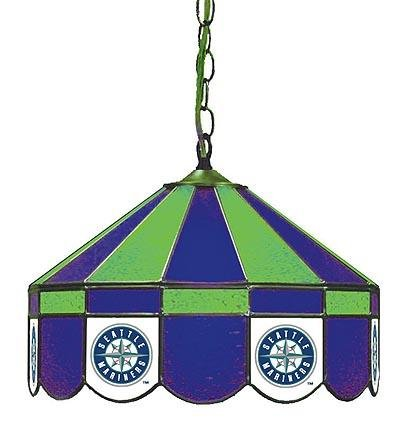 MLB Seattle Mariners 16-Inch Diameter Stained Glass Pub Light at Amazon.com
