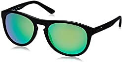 Police Iridium Aviator Unisex Sunglasses (S1871M56U28VSG 56 Grey with Green Mirror lens)