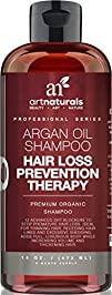 Art Naturals Organic Argan Oil Hair Loss Prevention Shampoo 16 Oz – Sulfate Free -Best Treatment for…