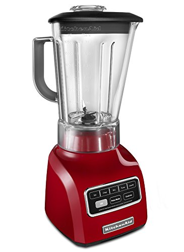Kitchenaid Ksb655Cer 5-Speed Blender With 56-Ounce Bpa-Free Pitcher And 24-Ounce Culinary Jar, Empire Red front-680324