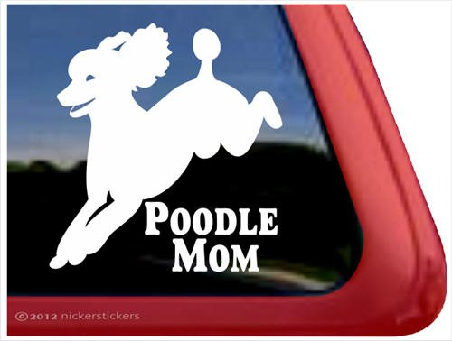Poodle Mom VinylWindow Auto Decal