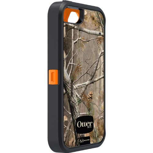Special Sale OtterBox Defender Series Case for iPhone 5 - Frustration-Free Packaging - Realtree Camo - AP Orange