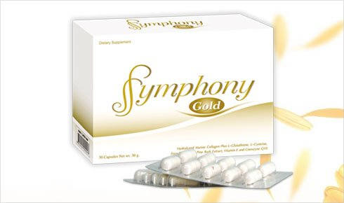 Symphony Gold Dietary Supplement White Collagen Complex Antioxidant Combination Nutritional Supplements 30 Capsules (Pack Of 2)