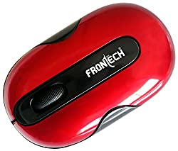FRONtECH JIL-3702 Optical USB Mouse (Red)