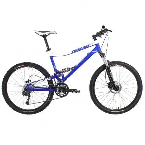 2009 Mongoose Teocali Comp Mountain Bike Blue/White Small