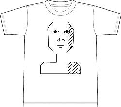 真顔 半袖Tシャツ 001ホワイトL