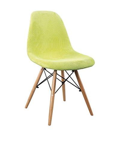 LO+DEMODA Set Silla 2 Uds. Wooden Fabric Edition Verde