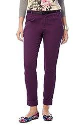 Honey by Pantaloons Women's Chino (301177748_Purple_26)