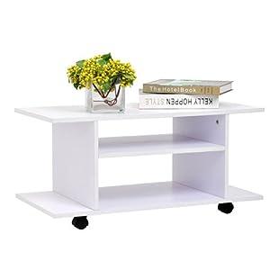 Homcom Modern Tv Cabinet Stand Storage Shelves Table Mobile Bedroom Furniture Bookshelf Bookcase