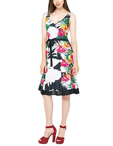 Desigual Damen A-Linie Kleid HALLEN, Knielang, Gr. 38 (Herstellergröße: L), Blau (AZUL ARTICO 5039) thumbnail