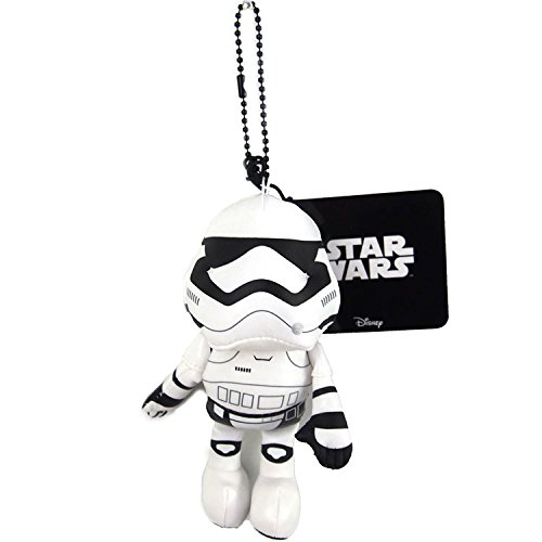 Japan Disney Official Star Wars the Force Awakens - First Order Stormtrooper Mascot Soft Plush Stuffed Toy Cushion Doll Plushie Ball Key Chain Strap Charm Phone Ring Holder Accessory Takara Tomy Arts