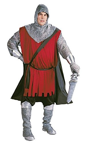 Renaissance Medieval Complete Adult Costume in Plus Size w/Knight Sword