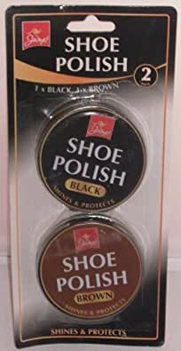 shoe polish 1/black 1/brown