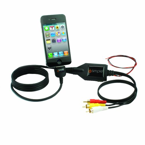 Isimple Mediawire Rear Seat Entertainment System Rca Audio/Video Connector Cable For Iphone/Ipad/Ipod