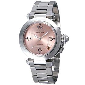 Cartier (カルティエ) 腕時計 パシャC W31075M7 ピンク ユニセックス