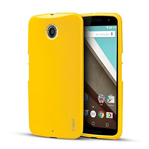 Nexus 6 Case, J&D [Drop Protection] Nexus 6 Case [Slim Cushion] Shock Resistant Protective Premium Jelly Case Slim Case for Google Nexus 6 (Yellow)