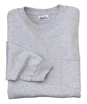 Hanes Heavyweight - 100% Cotton Long Sleeve T-Shirt with Pocket Light Steel-L - Buy Hanes Heavyweight - 100% Cotton Long Sleeve T-Shirt with Pocket Light Steel-L - Purchase Hanes Heavyweight - 100% Cotton Long Sleeve T-Shirt with Pocket Light Steel-L (Hanes, Hanes Mens Shirts, Apparel, Departments, Men, Shirts, Mens Shirts, Casual, Casual Shirts, Mens Casual Shirts)