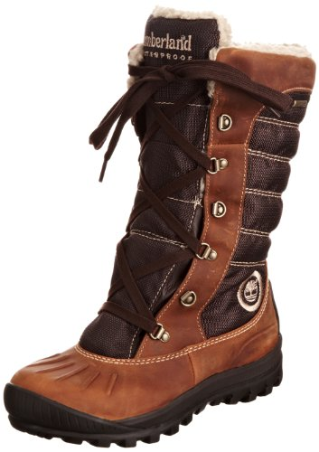 Timberland Women's Mount Holly Lace Duck Burnt Orange Waterproof Boots 3500R 8 UK