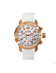 TW Steel Men's TW132 Grandeur Tech White Rubber Chronograph Dial Watch