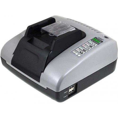 akku-net Akku-Ladegerät mit USB für Werkzeug Makita BHP442RFE, 100-240V