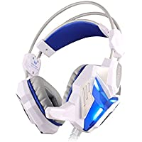 HIGHOT EACH G3100 Stereo Pro Gaming Headset Bass USB Headphone With Microphone LED Light Built-in Vibration Function... - B00V37P7UM