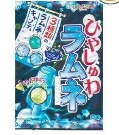 Senjaku - Hiyasyuwa Ramune Soda Candy - 3.1 Oz (3 Flavors) - Japanese Sour Fizzy Candy