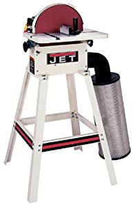 JET 708432K JDS-12DC 12-Inch 1 Horsepower Open Stand Disc Sander with Dust Canister, 115/230-Volt 1 Phase by JET