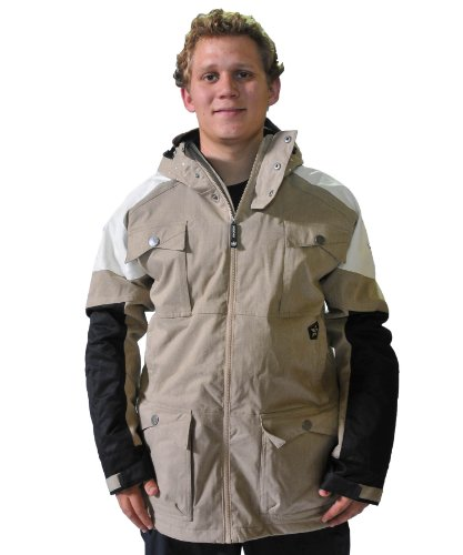 7R6TQB Sessions Men's Ecto Jacket, Khaki, Large