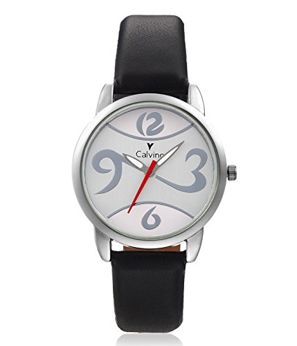 Calvino Calvino Women's Black Dial Watch CLAS-1512-OPN-1236_BLK-WHT (Multicolor)
