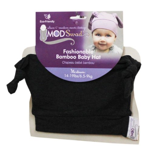 Mod Swad Fashionable Bamboo Baby Knot Hat ~ Choose Size/Color (Medium 14-19 lbs, RockStar) - 1