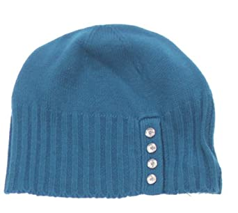 calvin klein s beanie hat with buttons teal at