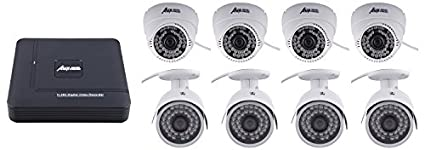Asen-8-Channel-Dvr,-4-Dome,-4-Bullet-Cameras-(With-1TB-HDD,Cable,Power-Supply)