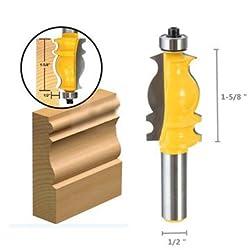 1/2 Shank Ogee Chisel Cutter Router Bit Door Woodworking Carpentry Tool -