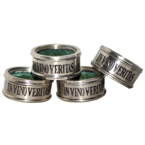 Old River Road Wine Bottle Drip Collar, Set of 4