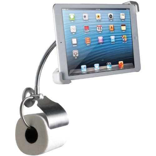 Cta Digital Wall-Mount Bathroom Stand For Ipad And Tablets With Paper Holder (Pad-Wbs) front-108014