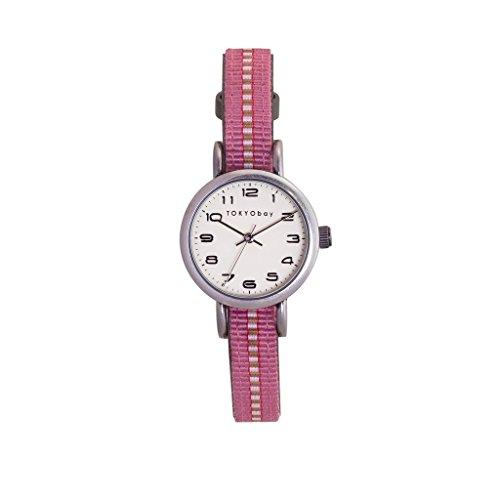 tokyobay-t394-gr-da-donna-fascia-in-nylon-bicolore-in-acciaio-inox-quadrante-bianco-smart-watch