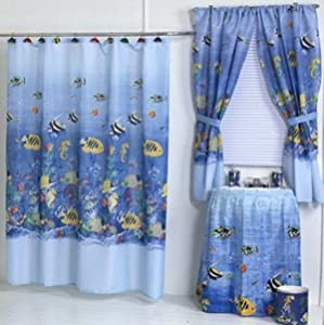 Safe Shower Curtain Liner Underwater Themed Show