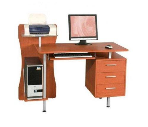 Ufficio scrivania Porta Pc mod. Printer ciliegio in MDF e acciaio cassettiera