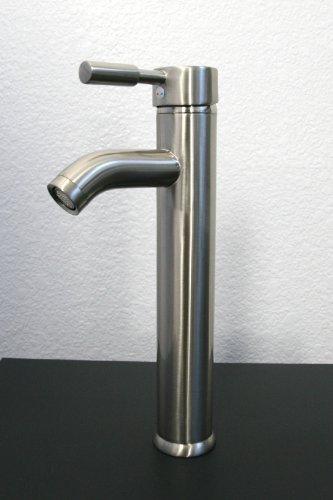 Ideal  Detail shop Fanoria bathroom Brushed Nickel Faucet for Glass Ceramic Vessel Sink Vanity
