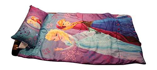 Discover Bargain Disney Frozen Anna and Elsa Slumber Bag with Pillow and Bonus Reusable Storage Bin