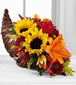FTD Flowers Fall Harvest Cornucopia By Better Homes and Gadens Deluxe