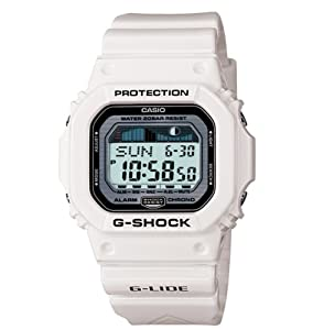 Buy Casio Mens GLX5600-7 G-Shock G-Lide Surfing Watch - white by Casio