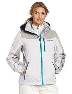 土拨鼠 Marmot 高端2层压胶防水透气保暖冲锋衣Women Arcs Jacket 白$170.63