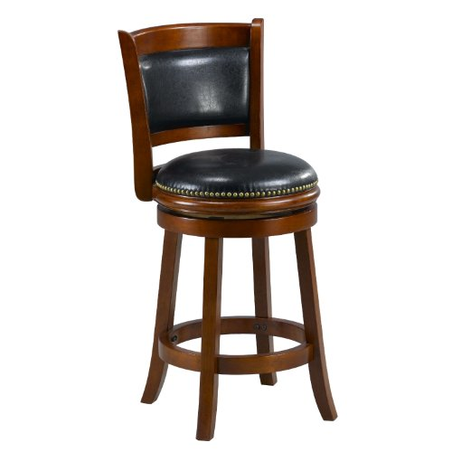 Cool Buy Mintra Cherry Finish Padded Back 24 Inch Counter Stool Inzonedesignstudio Interior Chair Design Inzonedesignstudiocom